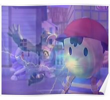 Ness, DK and ice climbers melee Poster