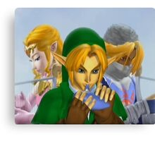 Zelda link and sheik melee Canvas Print