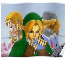 Zelda link and sheik melee Poster