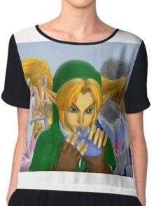 Zelda link and sheik melee Chiffon Top