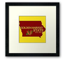 Golden Harvest State Framed Print
