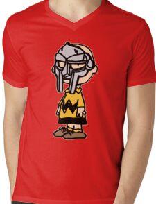 Charlie Brown Mask Mens V-Neck T-Shirt