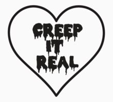 Creep It Real Heart One Piece - Short Sleeve