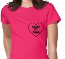 Creep It Real Heart Womens Fitted T-Shirt