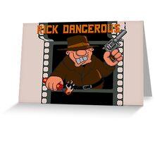 Rick Dangerous Title  Greeting Card