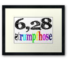 6,28 Strumpfhose Framed Print