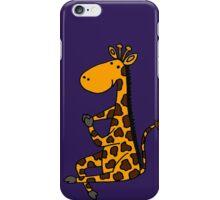 Cool Funny Funky Giraffe doing Yoga iPhone Case/Skin