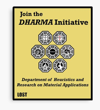 Join the DHARMA Initiative Print Canvas Print