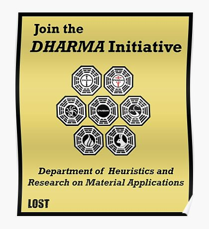 Join the DHARMA Initiative Print Poster