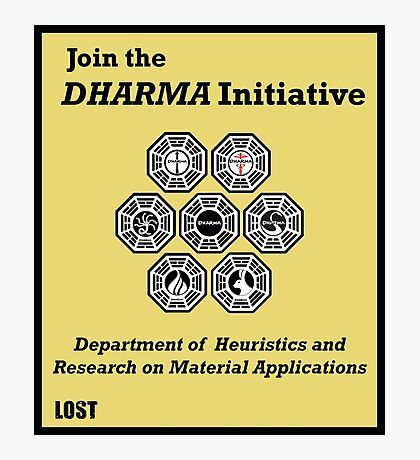 Join the DHARMA Initiative Print Photographic Print