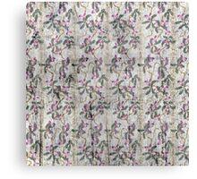 Grunge vintage floral retro design pattern old print background Canvas Print