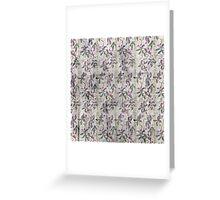 Grunge vintage floral retro design pattern old print background Greeting Card