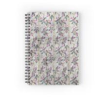 Grunge vintage floral retro design pattern old print background Spiral Notebook