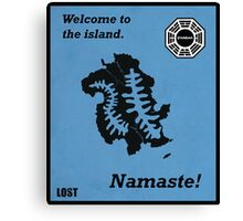 Welcome to the Island Print Canvas Print