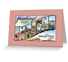 vintage greetings from Indiana the Hoosier State Greeting Card