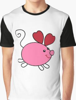 Cartoon funny mouse Graphic T-Shirt