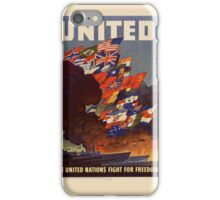 USA Poster: United Nation Fight for Freedom iPhone Case/Skin
