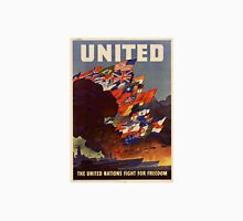 USA Poster: United Nation Fight for Freedom Unisex T-Shirt