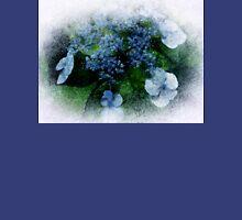 Blue Hydrangea - Watercolor effect Unisex T-Shirt