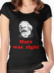 Marx was right #3 Women's Fitted Scoop T-Shirt