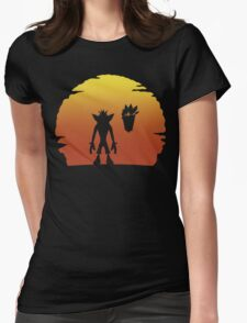 Crash on Sunset Womens Fitted T-Shirt