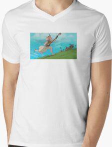 Coastal Town Training Mens V-Neck T-Shirt