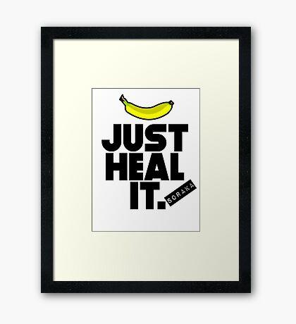 Just heal it Framed Print