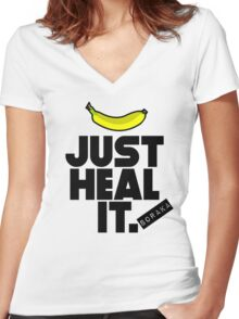 Just heal it Women's Fitted V-Neck T-Shirt