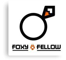 Foxy fellow Canvas Print
