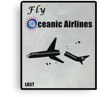 Fly Oceanic Airlines Print Canvas Print