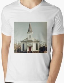 Abandoned Church Mens V-Neck T-Shirt