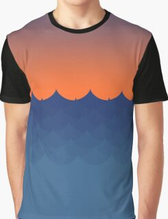 Waves Sunset Graphic T-Shirt