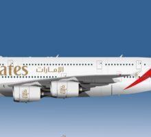 Illustration of Emirates Airbus A380 - Blue Version Sticker