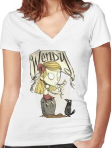 Wendy (Don't Starve) Women's Fitted V-Neck T-Shirt