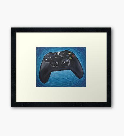 Blue Impressionist XBOX One Controller Framed Print