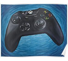 Blue Impressionist XBOX One Controller Poster