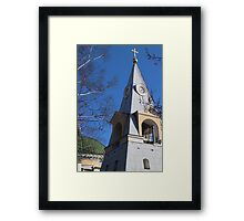 Bell tower pyramid Framed Print