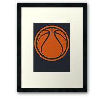 Graphic Basketball Framed Print