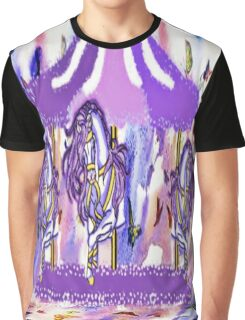 Purple carousel horse Graphic T-Shirt