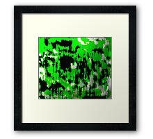 Neon Fractures Abstract Framed Print