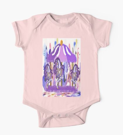 Purple carousel horse One Piece - Short Sleeve