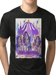 Purple carousel horse Tri-blend T-Shirt