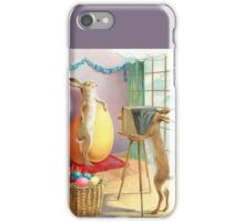 Photographing the Easter Rabbit - Vintage Anthropomorphic Art iPhone Case/Skin