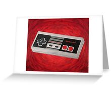 Red Impressionist Nintendo NES Controller Greeting Card