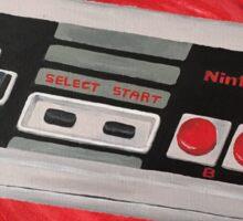 Red Impressionist Nintendo NES Controller Sticker