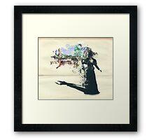 Zelena and Oz Framed Print
