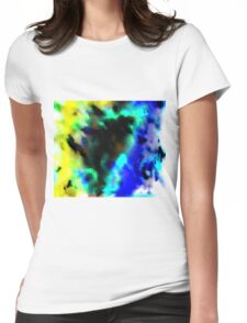 Clouded Judgement Abstract Womens Fitted T-Shirt