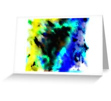 Clouded Judgement Abstract Greeting Card