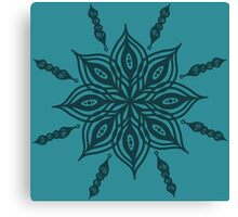 mandala floral ink design Canvas Print
