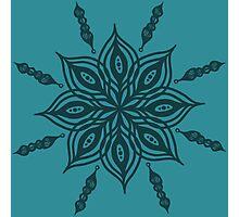 mandala floral ink design Photographic Print